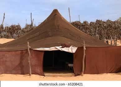 Berber tent in Sahara Desert, Africa