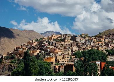 The berber village of Asni, near mount Toubkal, High Atlas, Morocco