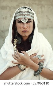 Berber woman in traditional jewelry