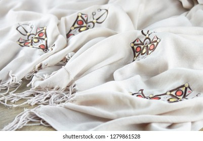 berbere embroidery design on scarf