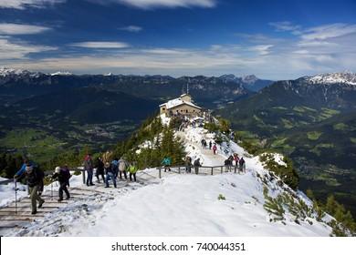 Berchtesgaden, Germany - September 22, 2017,Kehlsteinhaus - Eagle's Nest in Berchtesgaden, Germany