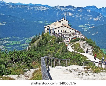 BERCHTESGADEN, GERMANY-SEPTEMBER 8: A view of  Hitler's Eagles Nest on September 8, 2010. Eagles' Nest was intended as a 50th birthday present for Adolf Hitler to serve as a retreat