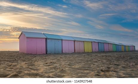 Berck sur mer beach cabine France