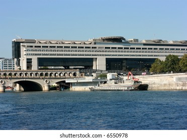 The Bercy bridge and the Bercy building, paris, France