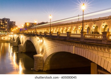 The Bercy bridge at night, Paris, france