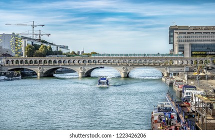 Bercy Bridge (Pont de Bercy) over the Seine River in Paris, France