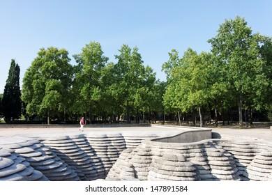 Bercy park in Paris