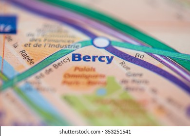 Bercy Station on the Paris Metro map.