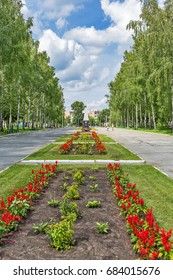 Berdsk, Novosibirsk oblast, Siberia, Russia - July 24, 2017: Park Memorial complex of victory in the great Patriotic war of 1941-1945