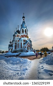 Berdsk, Novosibirsk region, Western Siberia, Russia - March 10, 2019: Cathedral of the Transfiguration