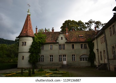 """Beregvar Castle is the romantic residence of the Schonborn counts. Today it is used as a sanatorium """"Karpaty"""". Located in the village of Karpaty, Mukachevo district, Zakarpattia, Ukraine."""