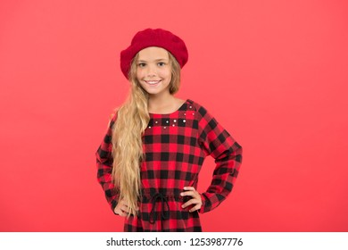8e31f4dc69716 Beret style inspiration. Wear beret like fashion girl. Kid little cute girl  with long