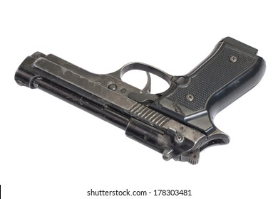Beretta hand gun isolated on white background