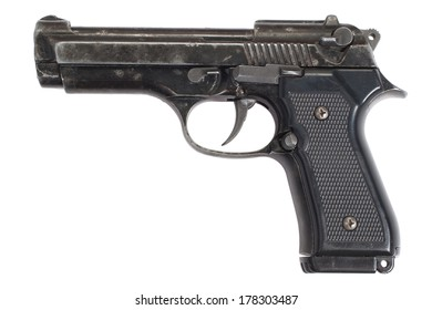 Beretta hand gun isolated on white background