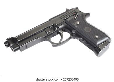 Beretta M9 gun isolated on white background