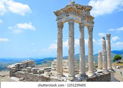 BERGAMA İZMİR,TURKEY-MAY 07: Pergamon was inscribed in the UNESCO World Heritage List in 2014.May 07,2016 in Bergama Izmir,Turkey