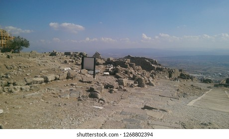 bergama acropolis, historical place, ancient, Temple of Trajan in ancient city Pergamon, Bergama, Turkey in a beautiful summer day