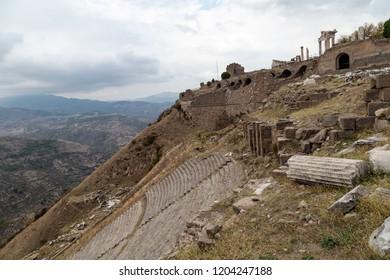 Bergama, Izmir / Turkey : 10/13/2018 : Ruins of The Ancient City of Pergamon
