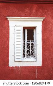 Bergama, Izmir/ Turkey - 10/14/2018: Window of old house in Bergama, Izmir, Turkey