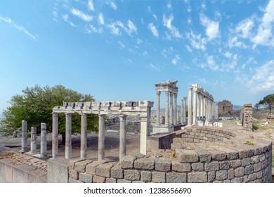 Bergama, Izmir, Turkey: Ruins Of The Ancient City Of Pergamum (The Altar Of Zeus)