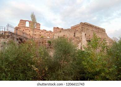 Bergama (Pergamon), Izmir / Turkey - 10/14/2018 : The Temple of Egyptian Gods (Serapeion) in Bergama