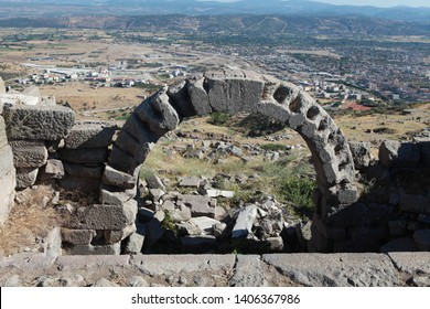 Bergama, Turkey: The ancient Athena sanctuary in Bergama is one of the places to visit tourists. September 1, 2012.