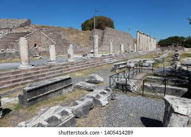 Bergama, Turkey: The Asklepieion in Bergama is one of the world's most famous ancient medical centers and one of the tourist attractions. September 1, 2012.