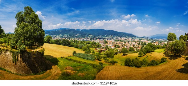 Bergamo is a city in Lombardy, Italy. The foothills of the Bergamo Alps begin immediately north of the town.