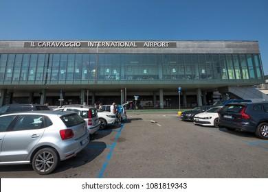 BERGAMO, ITALY - CIRCA APRIL, 2018: Il Caravaggio international airport.