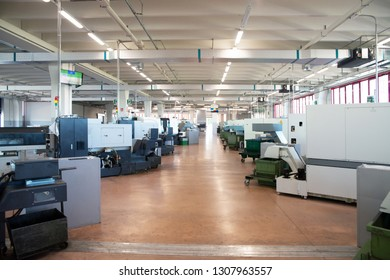 BERGAMO, ITALY - May 4, 2018 - Italian company specialized in components for pneumatic automation, with a wide variety of products for different industry sectors - Machine tools with CNC