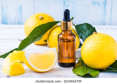 Bergamot citrus fruit essential oil, aromatherapy oil natural organic cosmetic.