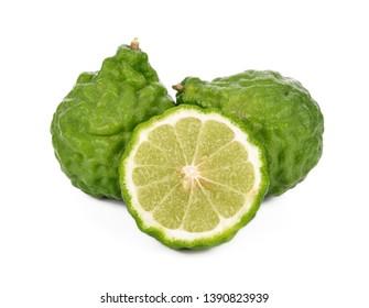 Bergamot fruit isolated on white background .
