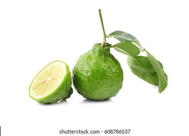Bergamot fruit Bergamot isolated on white background.