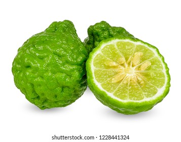 Bergamot isolated on white with clipping path.