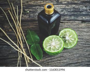 Bergamot oil spa concept