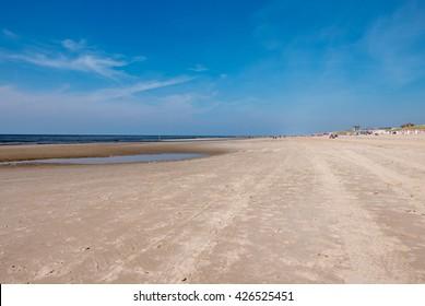 Bergen aan Zee, Netherlands - May 6, 2016: Beach at the sea