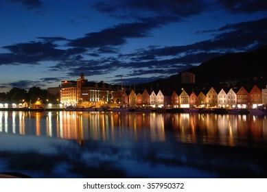 Bergen at Evening