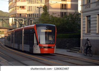 Bergen Light Rail Bybanen . The line of the Bergen tram received the 2011 award as the best in the world. June 26,2018. Bergen,Norway