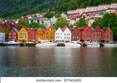 BERGEN, NORWAY - 25 JUNE, 2015: Sail Ships and yachts in the harbor of Bergen, Norway on 25 June 2015. Bergen is the second largest city in Norway.