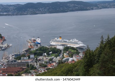 Bergen, Norway on 23.07.2019: Costa Favolosa Cruise Ship in the cruise port of Bergen