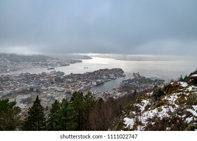 Bergen Norway view from Fløyen hill