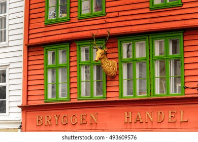 BERGEN, NOWRAY - SEP 14, 2016: Architecture of Bergen, the second-largest city in Norway and popular touristic destination.