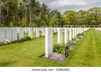 BERGEN OP ZOOM â?? THE NETHERLANDS â?? APRIL 23: War Cemetery Bergen op Zoom on April 23, 2014 in The Netherlands
