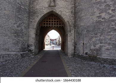 Bergen op Zoom, The Netherlands - August 11, 2018; The 'Lievevrouwe' gate or prison gate is the oldest monument in Bergen op Zoom