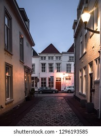 BERGEN OP ZOOM / THE NETHERLANDS - JANUARY 18, 2019: Night photography in Bergen op Zoom on a cold winter day