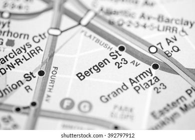 Bergen St. Broadway/7 Avenue Line. NYC. USA