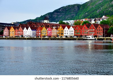 BERGEN,NORWAY,JUNE- 6, 2017 the Hanseatic district of Norway stands out for its architecture of m, adera and its colors being a world heritage site