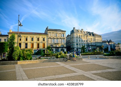 BERGERAC, FRANCE - JUNE 03: The downtown of Bergerac June 03, 2016 in Bergerac, France.