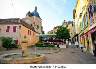 BERGERAC, FRANCE - JUNE 03: The downtown of Bergerac on June 03, 2016 in Bergerac, France.