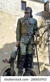 BERGERAC,FRANCE-3 FEBRUARY,2015: Cyrano de Bergerac statue
